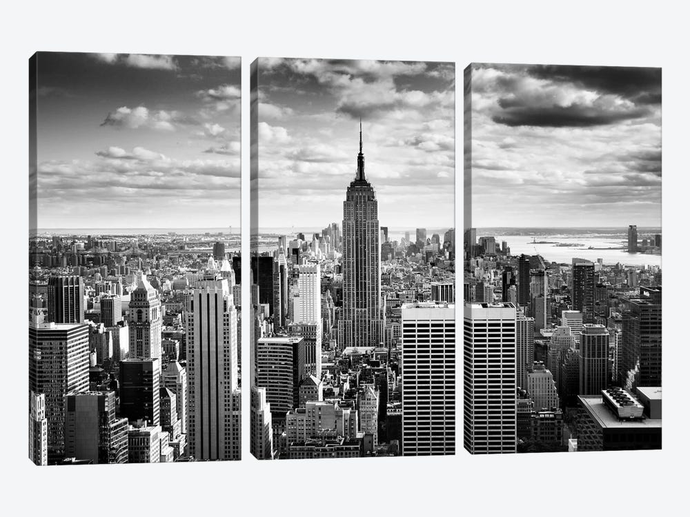 NYC Downtown 3-piece Canvas Art Print