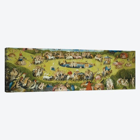 Top of Central Panel from The Garden of Earthly Delights Canvas Print #1164PANa} by Hieronymus Bosch Canvas Art Print