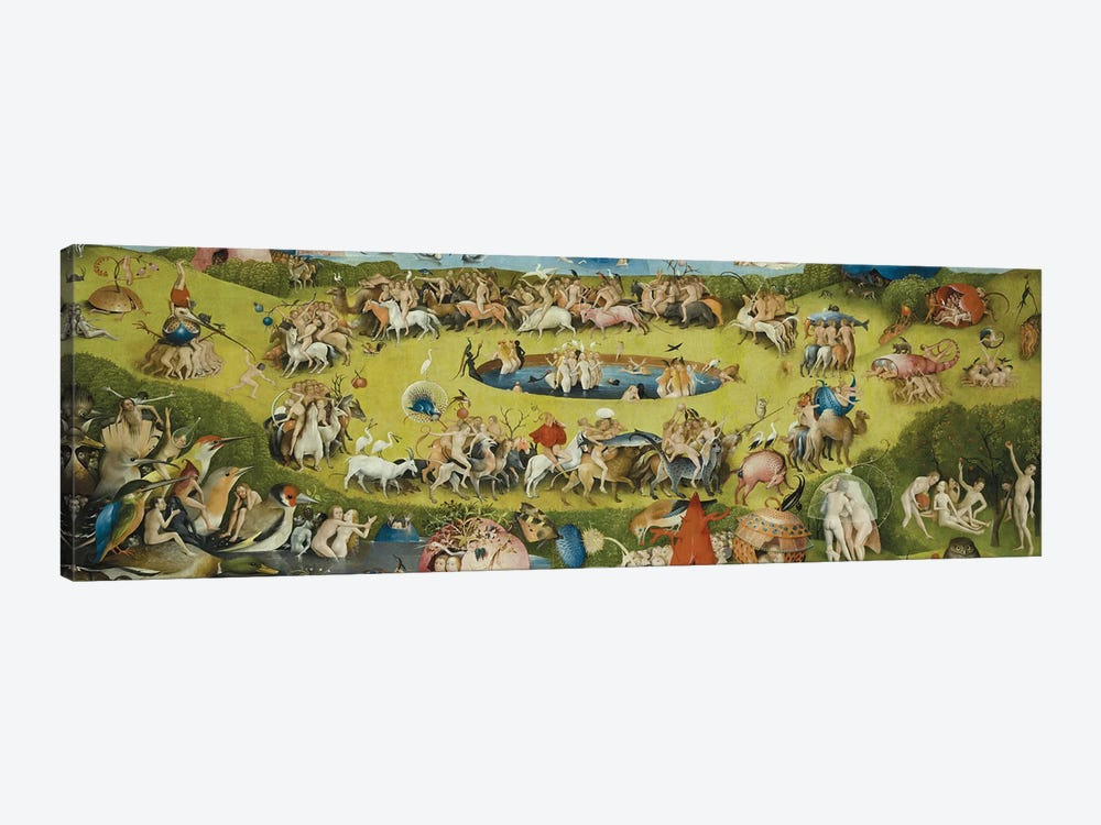 Top of Central Panel from The Garden of Earthly Delights by Hieronymus Bosch 1-piece Art Print