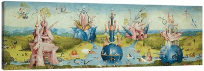 Top of Central Panel from The Garden of Earthly Delights II by Hieronymus Bosch Canvas Art Print