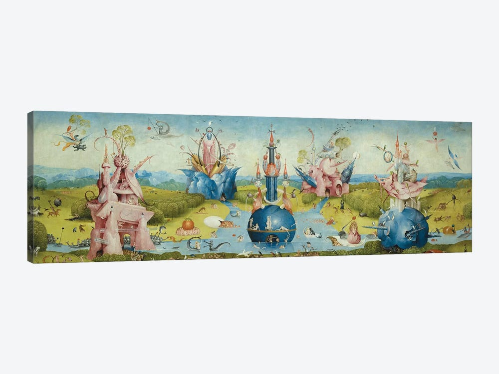 Top of Central Panel from The Garden of Earthly Delights II by Hieronymus Bosch 1-piece Canvas Wall Art