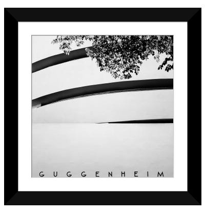 NYC Guggenheim Framed Art Print