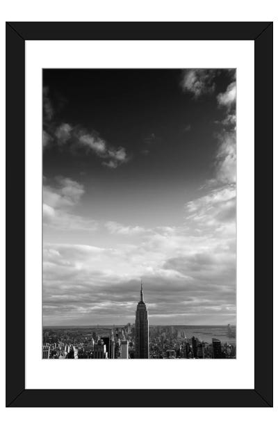 NYC Manhattan Sky Framed Art Print
