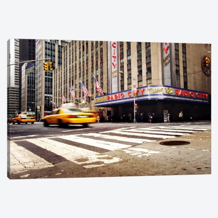 NYC Radio City Canvas Print #11653} by Nina Papiorek Canvas Wall Art