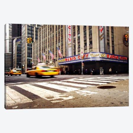 NYC Radio City Canvas Print #11653} by Nina Papiorek Canvas Wall Art