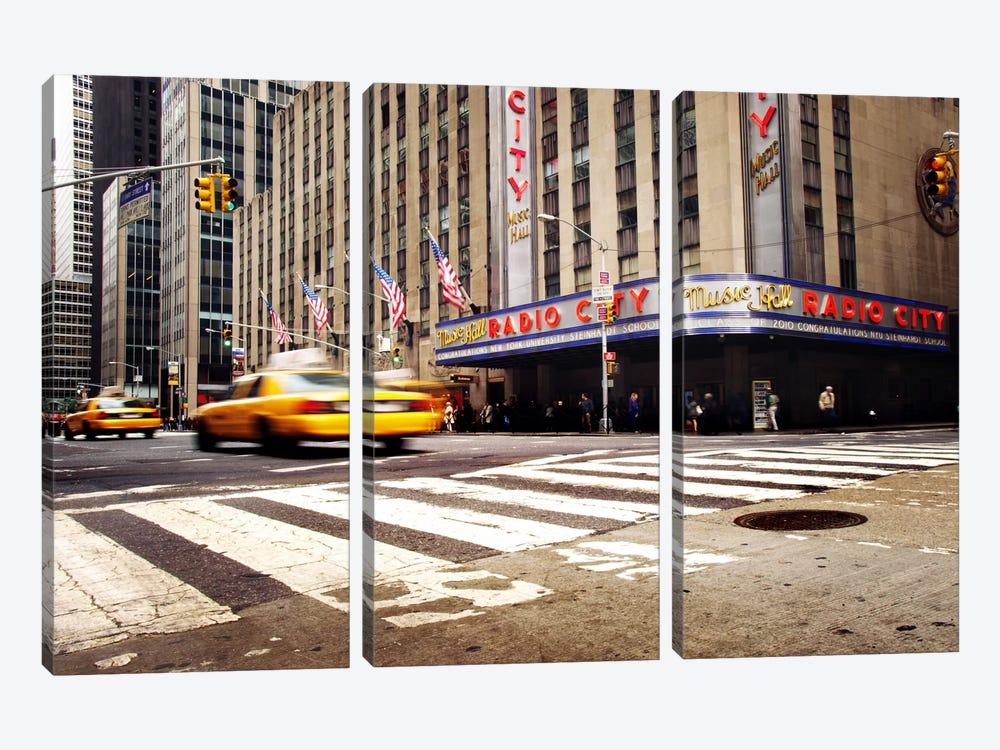 NYC Radio City by Nina Papiorek 3-piece Canvas Wall Art