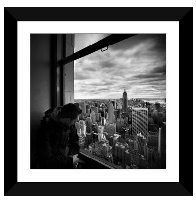NYC Manhattan View Framed Art Print
