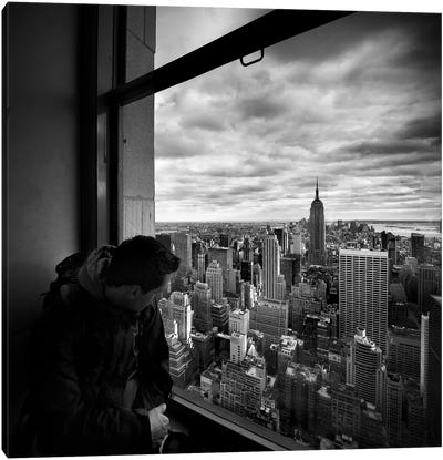 NYC Manhattan View Canvas Art Print