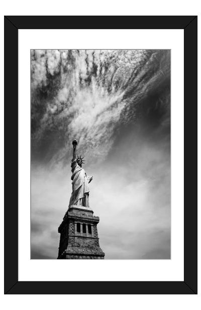 NYC Miss Liberty Framed Art Print