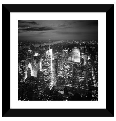NYC Nights Framed Art Print
