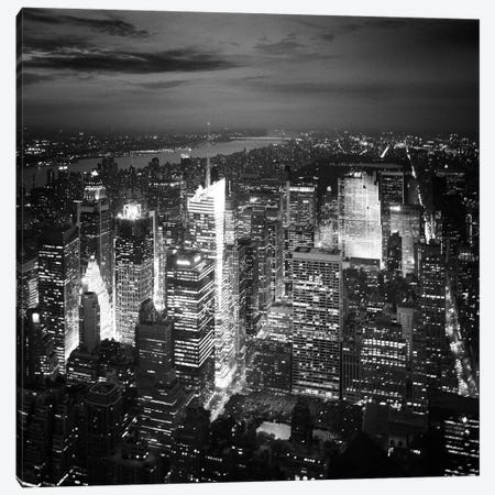 NYC Nights Canvas Print #11656} by Nina Papiorek Art Print
