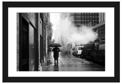 NYC Rain Framed Art Print