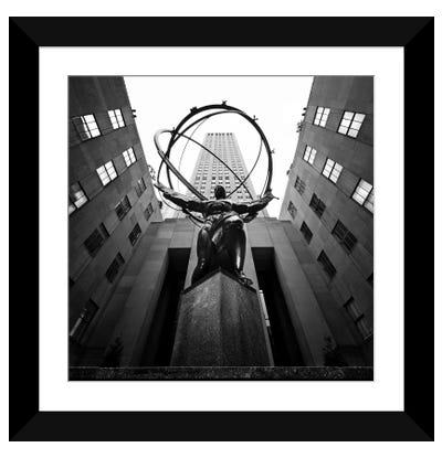 NYC Rockefellar Framed Art Print