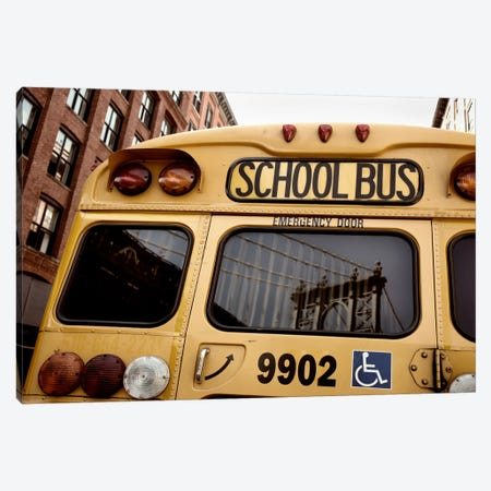 NYC School Bus Canvas Print #11660} by Nina Papiorek Canvas Print