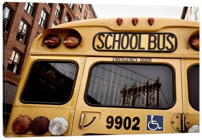 NYC School Bus Canvas Art Print