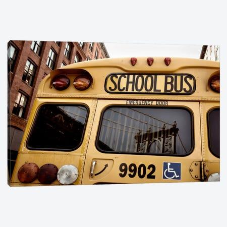 NYC School Bus Canvas Print #11660} by Nina Papiorek Canvas Print