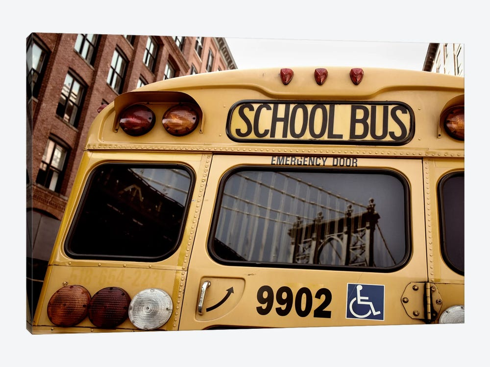NYC School Bus by Nina Papiorek 1-piece Canvas Wall Art