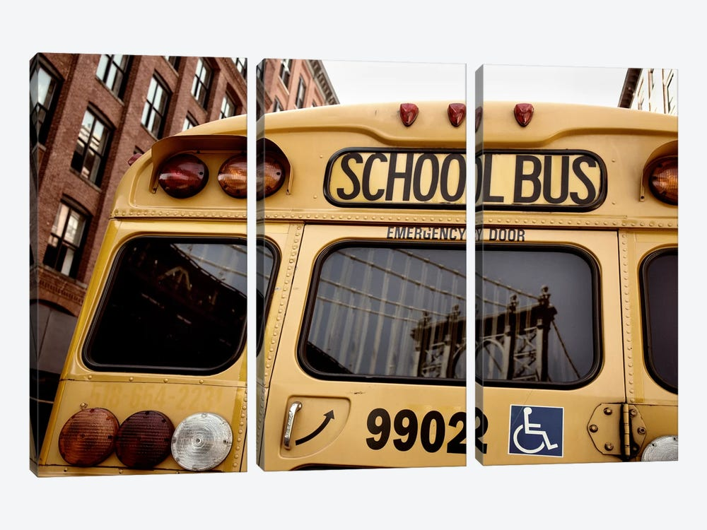 NYC School Bus by Nina Papiorek 3-piece Canvas Artwork
