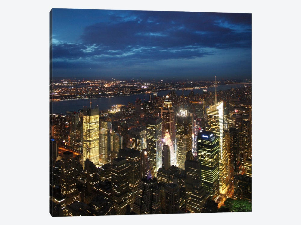 NYC Times Square by Nina Papiorek 1-piece Canvas Art Print