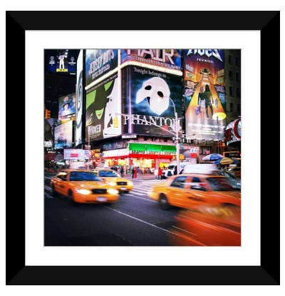 NYC Taxi Taxi Framed Art Print