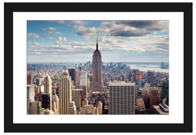 NYC The Empire Framed Art Print