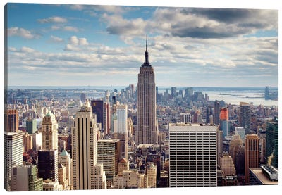 NYC The Empire Canvas Art Print