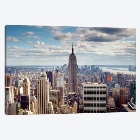NYC The Empire Canvas Print #11663} by Nina Papiorek Art Print