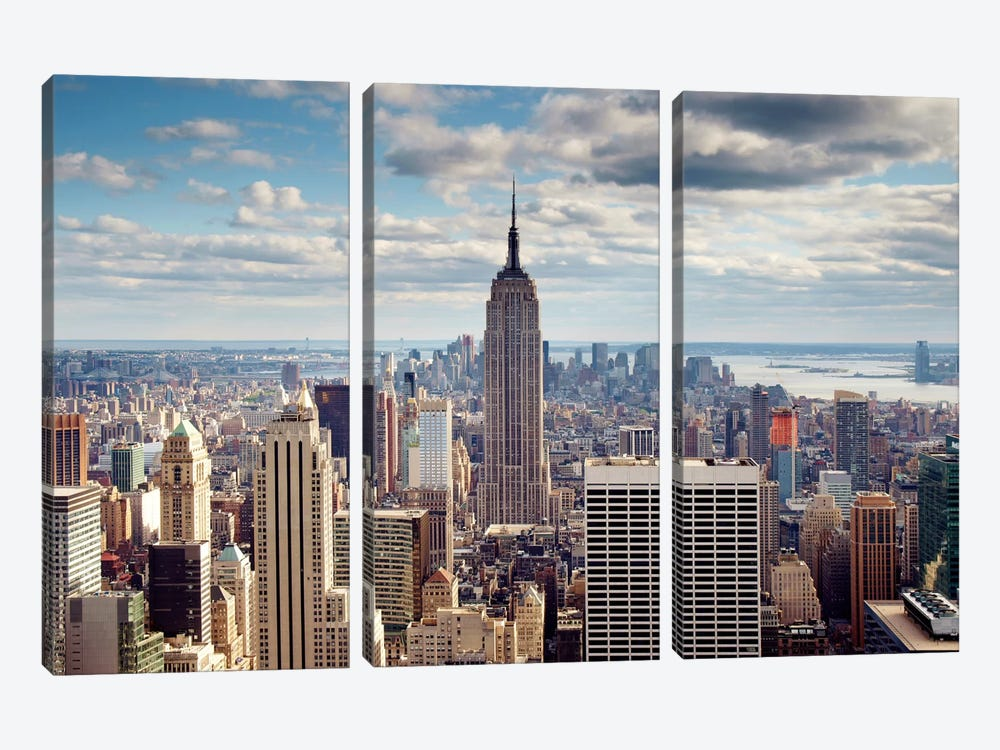 NYC The Empire by Nina Papiorek 3-piece Canvas Print