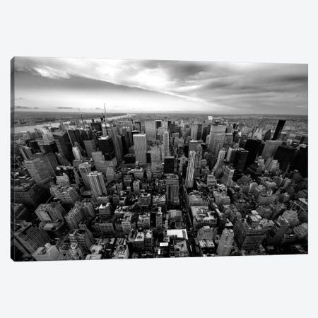 NYC Uptown Canvas Print #11664} by Nina Papiorek Canvas Artwork