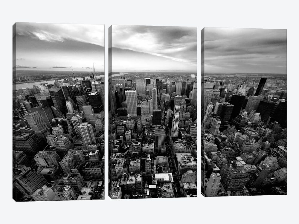 NYC Uptown by Nina Papiorek 3-piece Canvas Wall Art