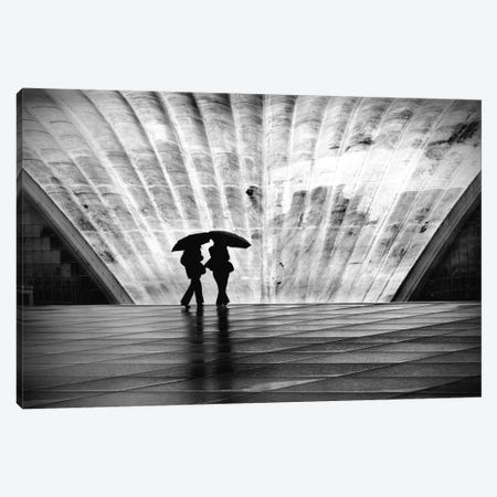 Paris La Pluie Canvas Print #11666} by Nina Papiorek Canvas Wall Art