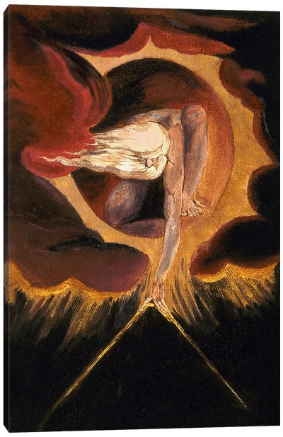 The Ancient of Days 1794 by William Blake Canvas Artwork