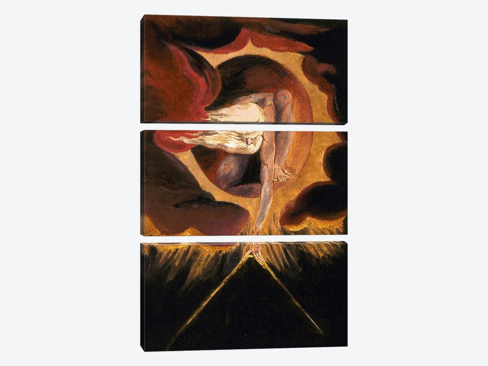 "The Ancient Of Days (Illustration From ""Europe a Prophecy"" Copy B), 1795 by William Blake 3-piece Art Print"