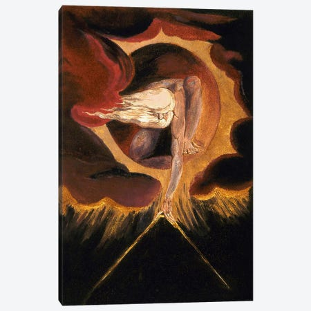 """The Ancient Of Days (Illustration From """"Europe a Prophecy"""" Copy B), 1795 Canvas Print #1166} by William Blake Canvas Artwork"""