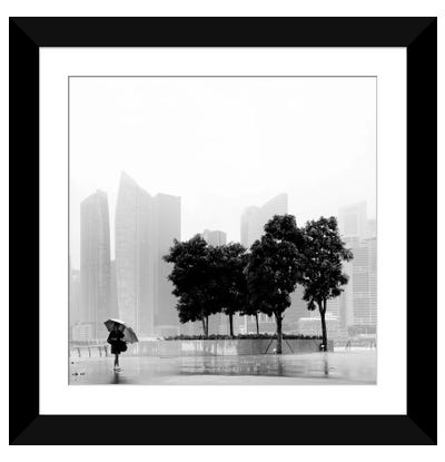 Singapore Umbrella Framed Art Print