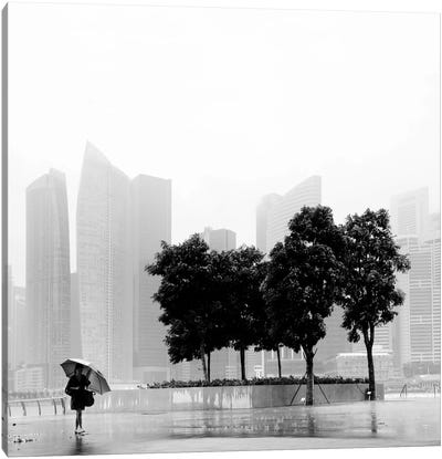 Singapore Umbrella Canvas Art Print