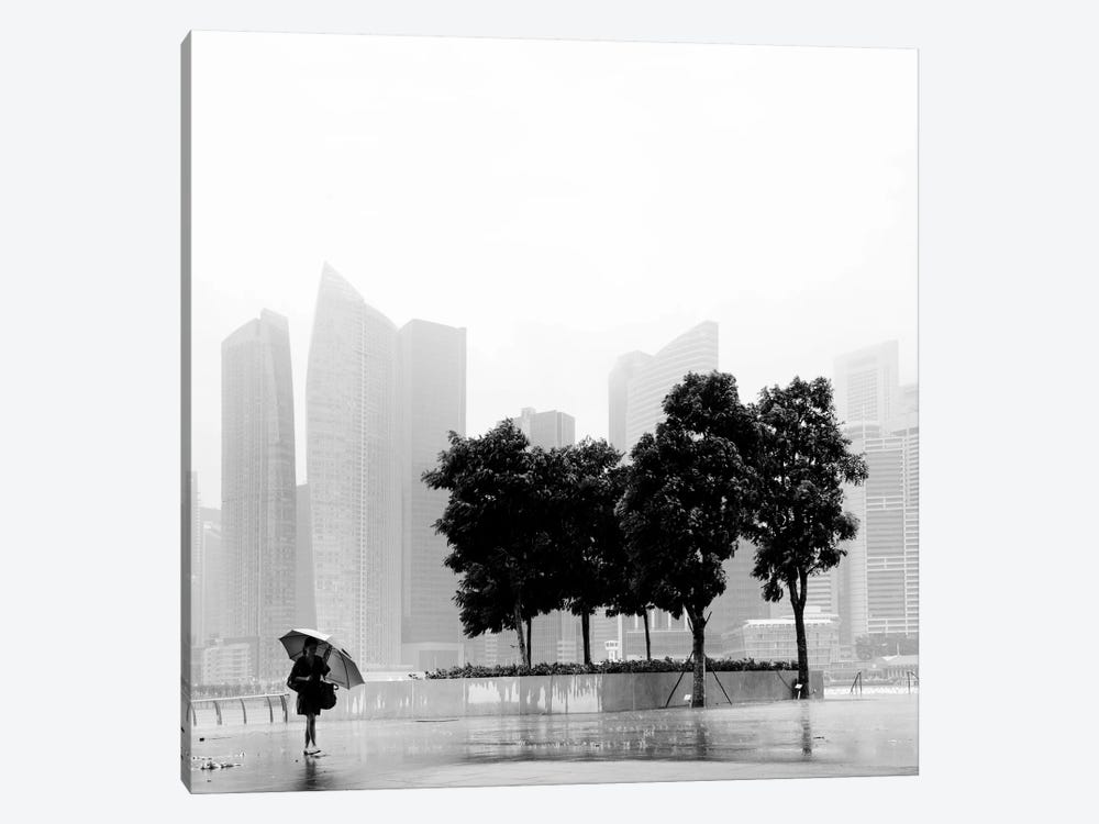 Singapore Umbrella by Nina Papiorek 1-piece Canvas Art