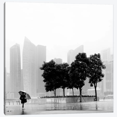 Singapore Umbrella 3-Piece Canvas #11671} by Nina Papiorek Canvas Art