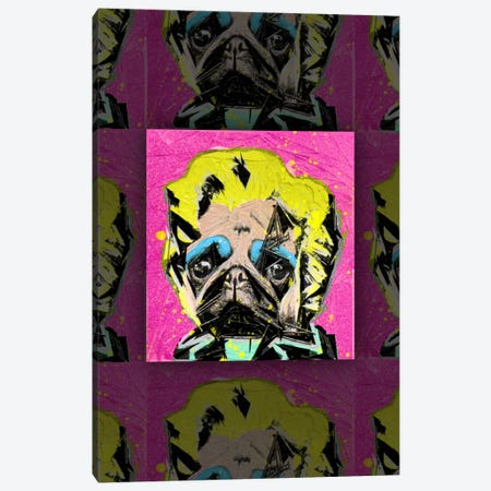 Pug Portrait Canvas Print #11673} by Ruud van Eijk Canvas Art