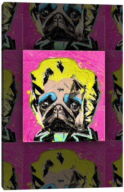 Pug Portrait Canvas Art Print