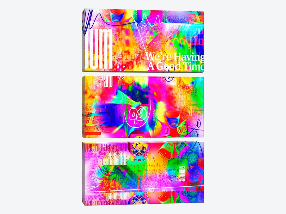Good Time by Ruud van Eijk 3-piece Canvas Wall Art