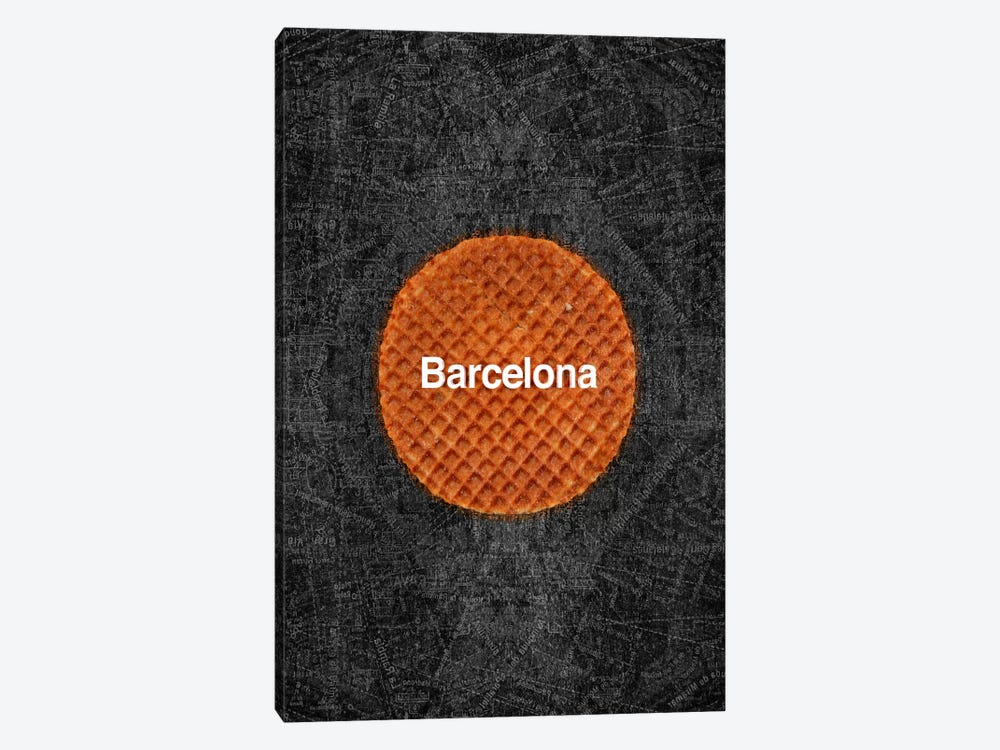Barcelona by Ruud van Eijk 1-piece Canvas Art Print