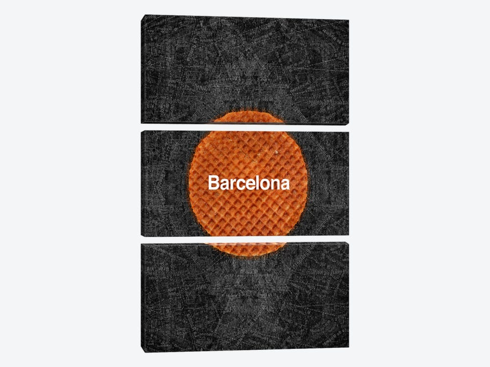 Barcelona by Ruud van Eijk 3-piece Canvas Print