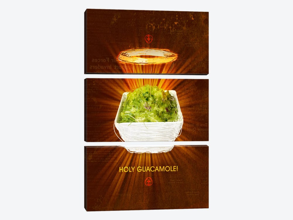 Holy Guacamole by Ruud van Eijk 3-piece Art Print