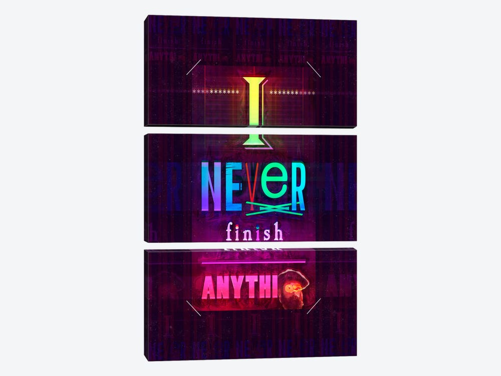 I Never Finish Anything by Ruud van Eijk 3-piece Canvas Art