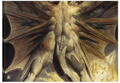 The Great Red Dragon 1805-1810 by William Blake Canvas Art