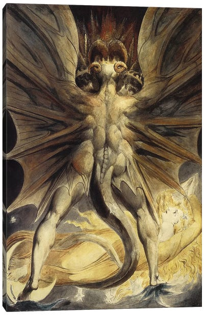 The Great Red Dragon and the Woman Clothed in the Sun, c. 1803-1805 Canvas Art Print