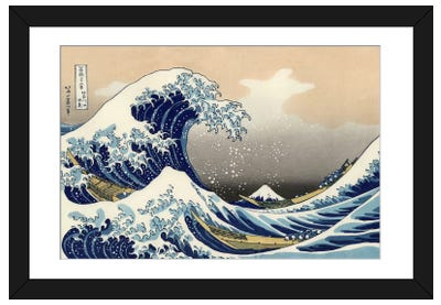 The Great Wave at Kanagawa, 1829 Framed Art Print