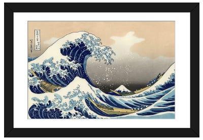 The Great Wave at Kanagawa, 1829 Framed Art Print