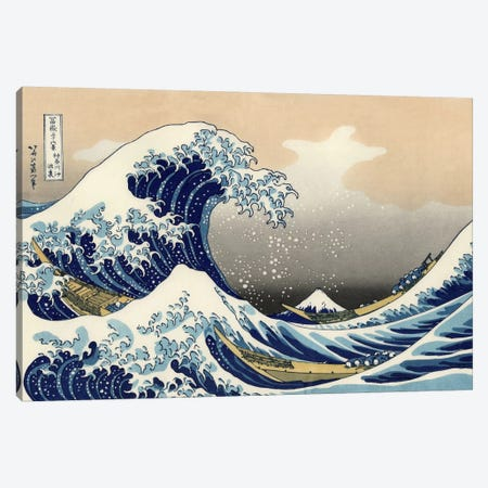 The Great Wave at Kanagawa, 1829 Canvas Print #1175} by Katsushika Hokusai Art Print